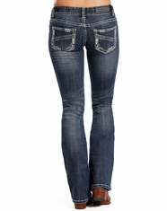 Rock & Roll Cowgirl Women's Low Rise Regular Fit Boot Cut Jeans - Medium Vintage (Closeout)