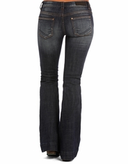 Rock & Roll Cowgirl Women's Low Rise Trouser Fit Bootcut Jeans - Dark Wash