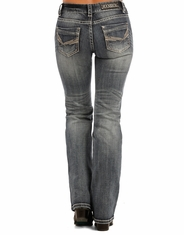 Rock & Roll Cowgirl Women's Mid Rise Boot Cut Jeans - Medium Vintage (Closeout)