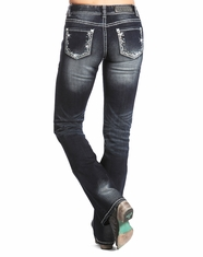 Rock & Roll Cowgirl Women's Mid Rise Bootcut Jean-Dark Vintage (Closeout)