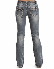 Rock & Roll Cowgirl Women's Mid Rise Bootcut Jean-LightVintage (Closeout)