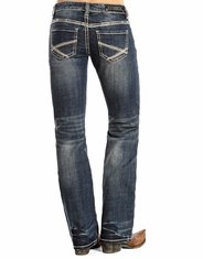 Rock & Roll Cowgirl Women's Riding Fit Low Rise Boot Cut Jeans - Medium Vintage
