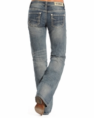 Rock & Roll Cowgirl Women's Riding Low Rise Regular Fit Bootcut Jean - Light Vintage (Closeout)