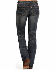 Rock & Roll Cowgirl Women's Rival Low Rise Boot Cut Jeans - Dark Vintage (Closeout)