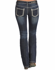 Rock & Roll Cowgirl Women's Rival Low Rise Bootcut Jean-Dark Vintage (Closeout)