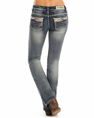 Rock & Roll Cowgirl Women's Rival Low Rise Slim Boot Cut Jeans - Light Vintage (Closeout)