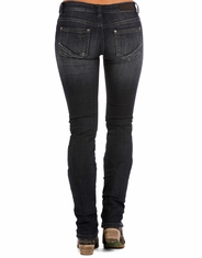 Rock & Roll Cowgirl Women's Rival Low Rise Slim Fit Straight Leg Jeans - Dark Vintage