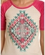 Rock & Roll Cowgirl Women's Short Sleeve Print Top - Pink (Closeout)