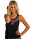 Rock & Roll Cowgirl Women's Sleeveless Embroidered Tank Top - Blue