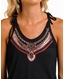 Rock & Roll Cowgirl Women's Sleeveless Embroidered Tank Top - Blue (Closeout)