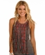 Rock & Roll Cowgirl Women's Sleeveless Fringe Print Tank Top - Grey (Closeout)