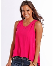 Rock & Roll Cowgirl Women's Sleeveless Lace Top - Pink (Closeout)