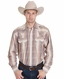 Rockmount Men's Long Sleeve Hombre Stripe Snap Shirt - Brown