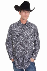 Rockmount Mens Long Sleeve Snap Western Shirt - Skull