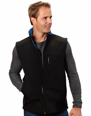 Roper Men's Fleece Lined Bonded Vest - Black (Closeout)