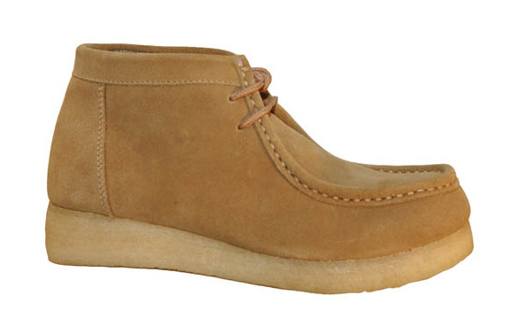 Roper Men's Gum Sole Chukka Shoes - Tan Suede