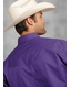 Roper Men's Western Long Sleeve Solid Snap Shirt - Purple