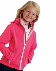 Roper Rangewear Girl's Fleece Lined Softshell Jacket - Pink (Closeout)