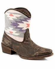 Roper Women's Blanket Shaft Shorty Snip Toe Boots - Brown