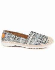 Roper Women's Print Slip-on Shoes - Blue