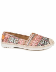 Roper Women's Print Slip-on Shoes - Pink
