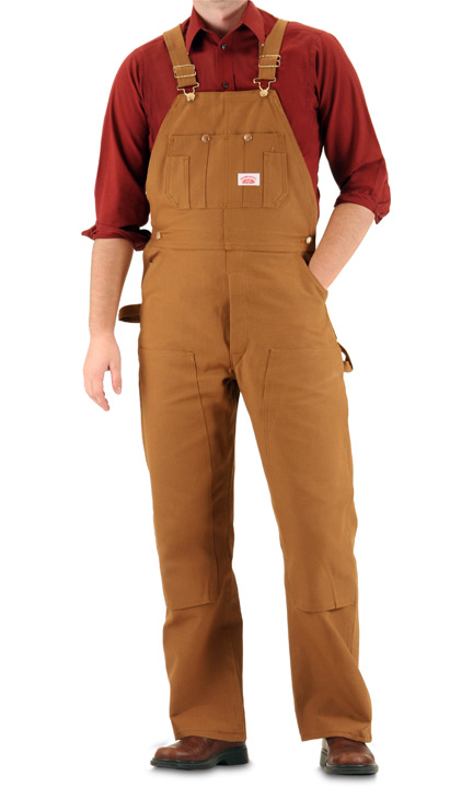Round House Brown Duck Double Knee Overall (Button Fly) - Made in the USA