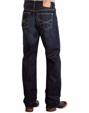 Stetson Men's 1312 Modern Relaxed Fit Straight Leg Jeans - Dark Rinse