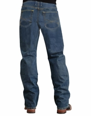 Stetson Men's 1312 Modern Relaxed Fit Boot Cut Jeans - Medium Stonewash