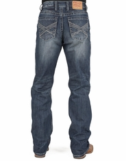 Stetson Men's 1312 Modern Relaxed Fit Straight Leg Jeans - Medium Wash