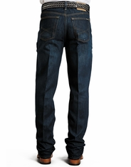 Stetson Men's 1520 Mid Rise Relaxed Fit Boot Cut Jeans - Dark Wash