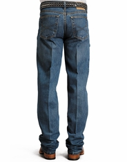 Stetson Men's 1520 Mid Rise Relaxed Fit Boot Cut Jeans - Medium Stonewash