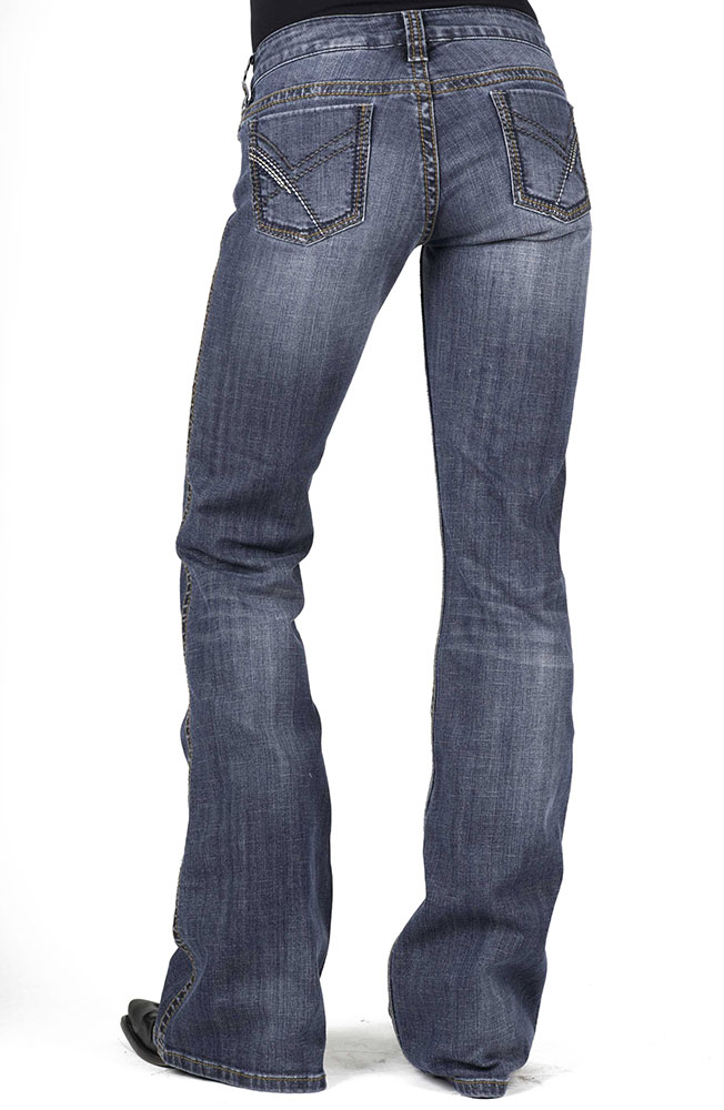 Stetson Womens 816 Classic Boot Cut Jeans - Blue