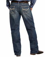 Tuf Cooper Men's Competition Fit Mid Rise Relaxed Fit Straight Leg Jeans - Medium Wash (Closeout)