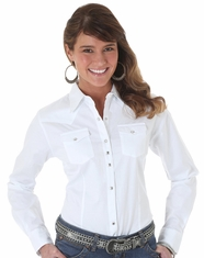 Women's Wrangler LS Solid Snap Shirt - White