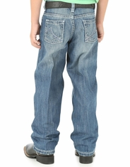 Wrangler 20X Boys' Extreme Relaxed Fit Straight Leg Jeans (Sizes 1T-7) - Medium Wash