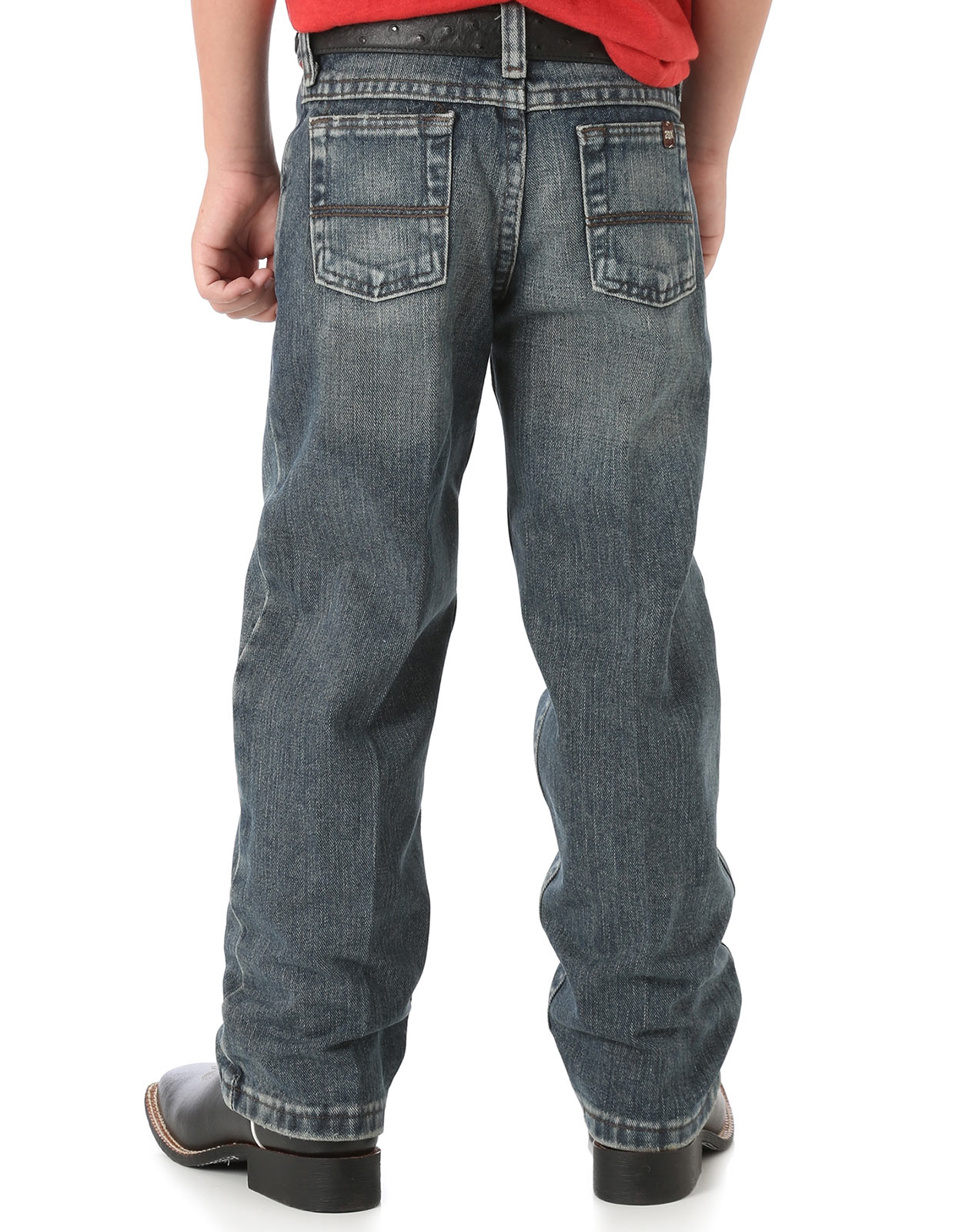 Wrangler Boy's 20X 33 Extreme Mid Rise Loose Fit Straight Leg Jeans (Sizes 1T-7) - Vintage Midnight