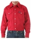 Wrangler Boy's Solid Snap Western Shirt - Red (Closeout)