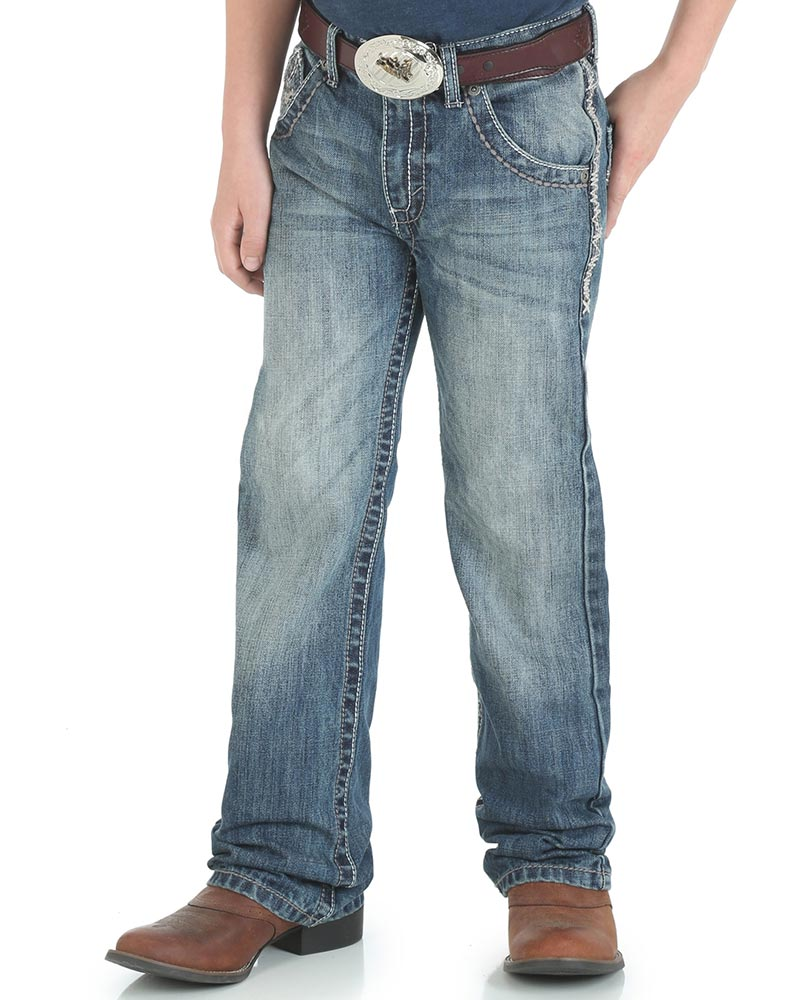 Wrangler Boy's 20X 42 Vintage Low Rise Slim Fit Boot Cut Jeans (Sizes 8-20) - Breaking Barriers