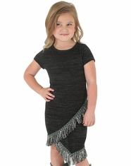 Wrangler Girl's Fringe Dress - Heathered Black (Closeout)