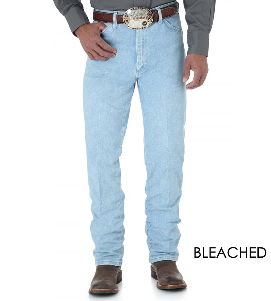 Wrangler Men's Gold Buckle Slim Fit Jeans - Bleached, Stonewashed or Dark Stonewash