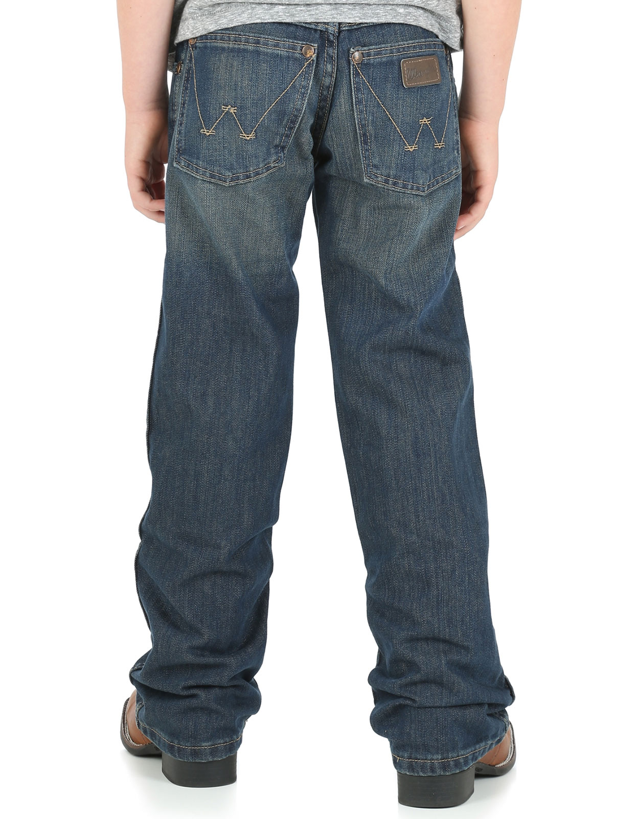Wrangler Boy's Retro Low Rise Relaxed Fit Boot Cut Jeans (Sizes 1T-7) - Night Sky