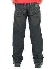 Wrangler Retro Boys' Relaxed Fit Straight Leg Jeans (Sizes 1T-7) - Dark Vintage