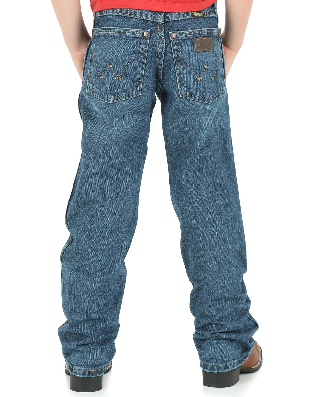Wrangler Boy's Retro Low Rise Relaxed Fit Straight Leg Jeans (Sizes 1T-7) - Everyday Blue