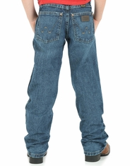 Wrangler Retro Boys' Relaxed Fit Straight Leg Jeans (Sizes 1T-7) - Medium Vintage