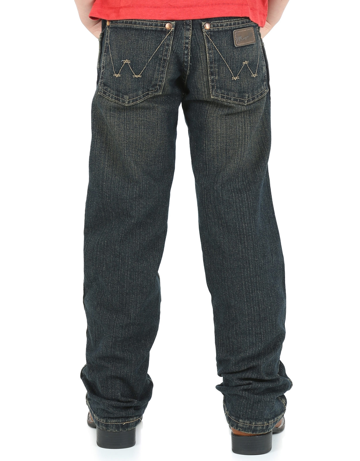 Wrangler Boy's Retro Low Rise Relaxed Fit Straight Leg Jeans (Sizes 8-20) - Rolling River