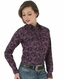 Wrangler Women's Long Sleeve Tough Enough Print Snap Shirt - Black (Closeout)