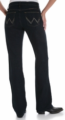 Wrangler Women's Q-Baby Ultimate Riding Mid Rise Stretch Jeans - Dark Dynasty