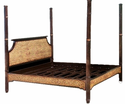 Water Hyacinth and Mahogany Royal Indies Bed, Queen Size