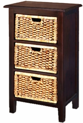 Water Hyacinth Chest 3 Drawers
