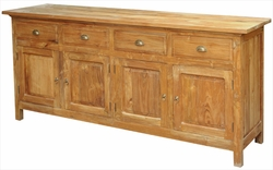 Waxed Teak Paris Buffet/Media Console